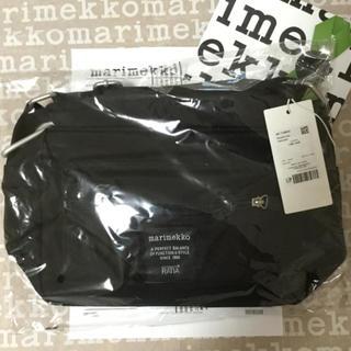 マリメッコ(marimekko)のマリメッコ ショルダーバッグ  MARIMEKKO ブラック MY THINGS(ショルダーバッグ)