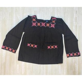 ベビーギャップ(babyGAP)のベビーギャップ★刺繍トップス★ブラウン★サイズ90(Tシャツ/カットソー)