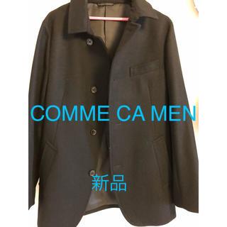 コムサメン(COMME CA MEN)の新品未使用!COMME CA MEN コート ブラック(ステンカラーコート)