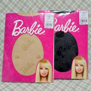 バービー(Barbie)の2足セット バービー Barbie ストッキング ベージュ ブラック 匿名配送(タイツ/ストッキング)