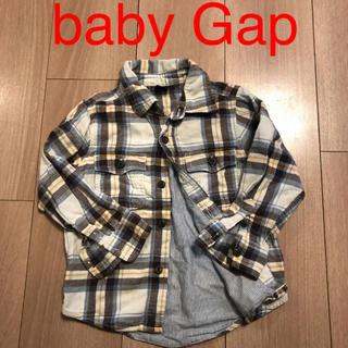 ベビーギャップ(babyGAP)のbaby Gap  チェックシャツ  95(ブラウス)