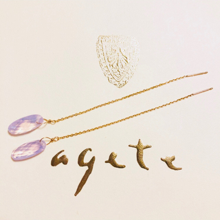 agete - ☆希少☆限定☆ agete アガット アメリカンピアス