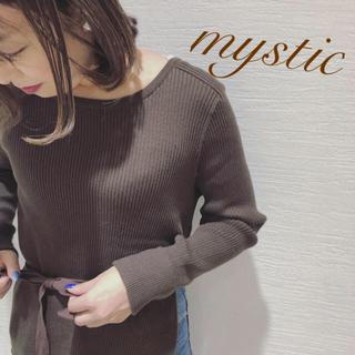 mystic - リボン付きサイドスリットリブニット❤︎