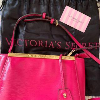 ヴィクトリアズシークレット(Victoria's Secret)の本革保証書付き♡ ショッキングピンクのショルダーバッグ(ショルダーバッグ)