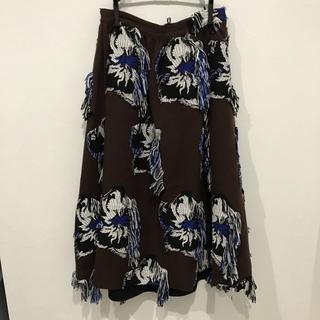 Drawer - 完売 アキラナカジャガードスカート38ブラウン