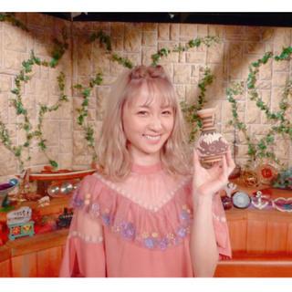 Lily Brown - リリーブラウン ami 刺繍ワンピース M