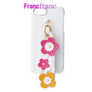 フランフラン(Francfranc)の【新品】フラワー iPhoneケース マルチ(iPhone6/6s/7/8)(iPhoneケース)