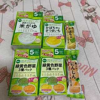 ワコウドウ(和光堂)の和光堂の離乳食5ヶ月用です。(離乳食器セット)