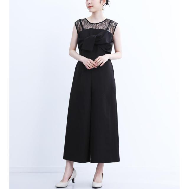 merlot(メルロー)の完売品 merlot リボンビスチェ風 オールインワン パンツドレス レディースのフォーマル/ドレス(その他ドレス)の商品写真