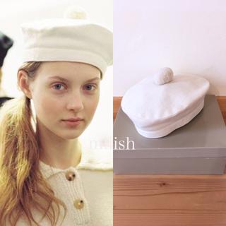 マーガレットハウエル(MARGARET HOWELL)の英国製 マーガレットハウエル MARGARET HOWELL ポンポンベレー帽(ハンチング/ベレー帽)