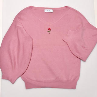 dazzlin - dazzlin ダズリン ニット バラ 刺繍