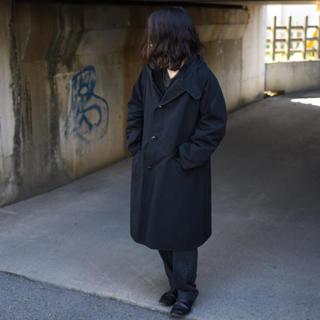 コモリ(COMOLI)のcomoli コモリ フーデッドコート ブラック 黒 2018 サイズ1 (モッズコート)
