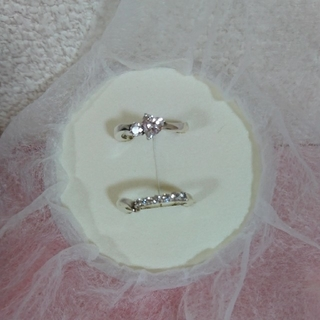 ヨンドシー(4℃)の☆4℃ シルバーリング 7号 2本セット☆(リング(指輪))