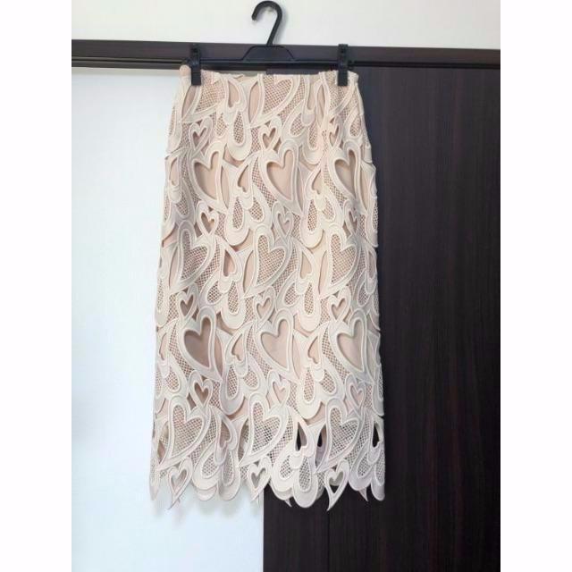FRAY I.D(フレイアイディー)のハートレーススカート CELFORD レディースのスカート(ロングスカート)の商品写真