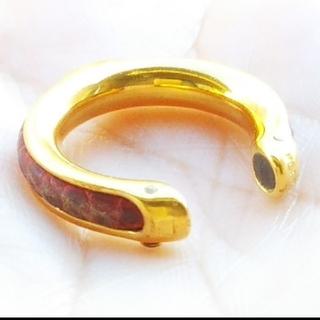 Hermes - エルメス HERMES リング 指輪 ペンダントトップ チャーム レザー 金
