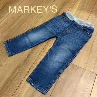 マーキーズ(MARKEY'S)のマーキーズ  クラッシュ デニム パンツ 90㎝(パンツ/スパッツ)
