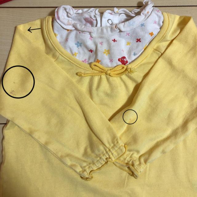 mikihouse(ミキハウス)の★GraceM様専用★ミキハウス 長袖 3枚セット キッズ/ベビー/マタニティのベビー服(~85cm)(シャツ/カットソー)の商品写真