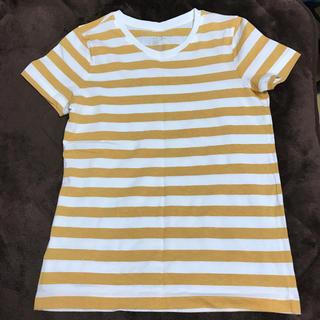 ムジルシリョウヒン(MUJI (無印良品))の美品 無印良品 ボーダーTシャツ(Tシャツ(半袖/袖なし))