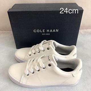 コールハーン(Cole Haan)の未使用 COLE HAAN スニーカー 白 24cm コールハーン(スニーカー)