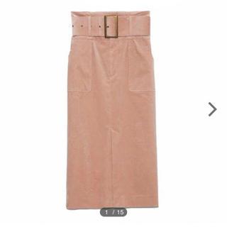 Lily Brown - コーデュロイミディタイトスカート