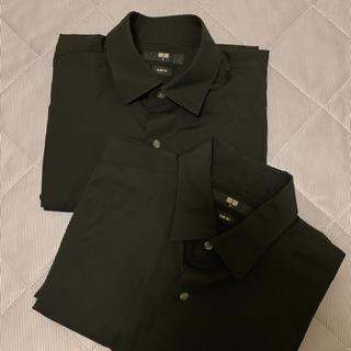 UNIQLO - ユニクロ メンズ シャツ クロ Sサイズ 2枚 長袖