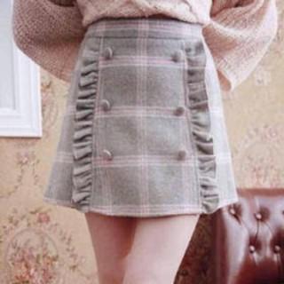 Bobon21 - Bobon21 タータンチェックお嬢様ミニスカート グレー×ピンク サイズM