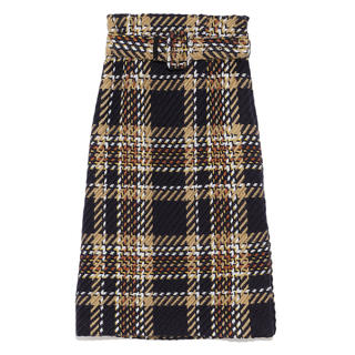 ミラオーウェン(Mila Owen)のミラオーウェン ツイードチェックタイトスカート(ひざ丈スカート)