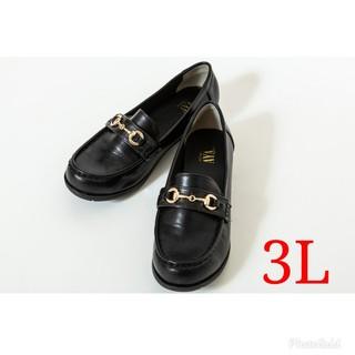 シマムラ(しまむら)の【新品未使用】プチプラのあや プチクロコビットローファー 3Lサイズ(ローファー/革靴)
