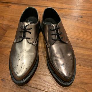 ドクターマーチン(Dr.Martens)のドクターマーチン☆プレーントゥ 革靴☆シルバー(ローファー/革靴)