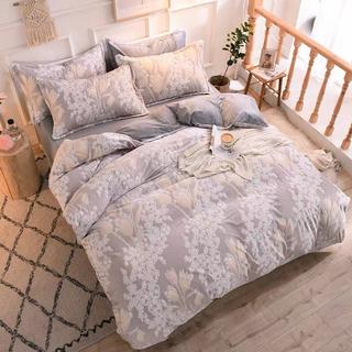 ワイドダブル ベッド用品4点セット .寝具 枕カバー掛け布団カバー ベッドパッド
