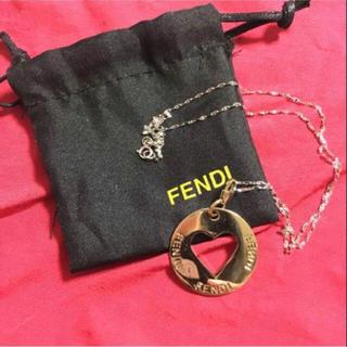 フェンディ(FENDI)のfendi ゴールドハートネックレス(ネックレス)