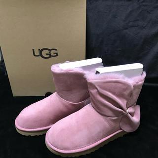 アグ(UGG)の新品 UGG ショート ムートンブーツ クラシックミニ ピンク CLASSIC(ブーツ)