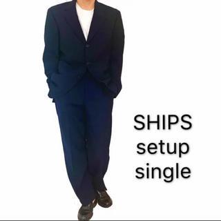 シップス(SHIPS)のSHIPS シップス セットアップ スーツ ネイビー 紺色 メンズ 着画(セットアップ)