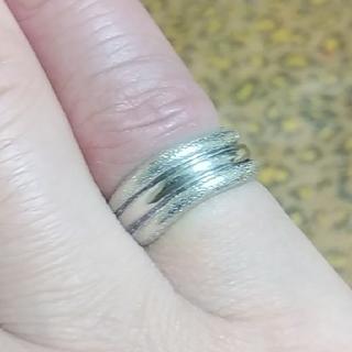 ジュエリーツツミ(JEWELRY TSUTSUMI)のK14WG ピンキーリング💍 5号 縦幅約6㎜(リング(指輪))