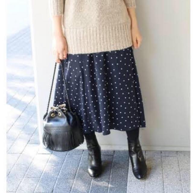 IENA(イエナ)の【 最終お値下げ 】IENA ドットプリントスカート レディースのスカート(ロングスカート)の商品写真