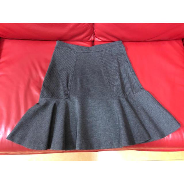 DIANE von FURSTENBERG(ダイアンフォンファステンバーグ)のDIANE Von FURSTENBERG グレー フレアー スカート 9号 レディースのスカート(ひざ丈スカート)の商品写真