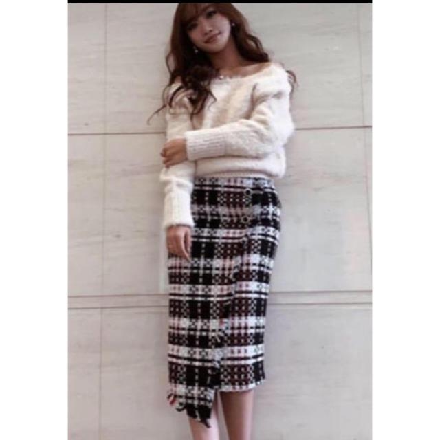 eimy istoire(エイミーイストワール)のエイミーイストワール ウールチェックスカート レディースのスカート(ひざ丈スカート)の商品写真