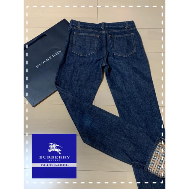 BURBERRY BLUE LABEL(バーバリーブルーレーベル)の【美品】Burberry バーバリーブルーレーベル デニムパンツ 38 レディースのパンツ(デニム/ジーンズ)の商品写真