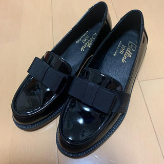 ドゥーズィエムクラス(DEUXIEME CLASSE)のDIEGO BELLINI☆新品 エナメルローファー 黒 サイズ36(ローファー/革靴)