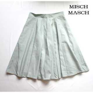 ミッシュマッシュ(MISCH MASCH)のミッシュマッシュ★膝丈 フレアスカート M グリーン 春夏  オフィスにも♪(ひざ丈スカート)