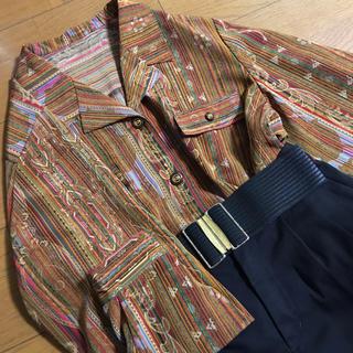 Santa Monica - アジアン エスニック オープンカラー ガラシャツ ジャケット