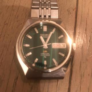 セイコー(SEIKO)のSEIKO LORDMATIC SPECIAL5216-7040グリーン(腕時計(アナログ))