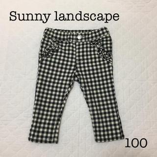 SunnyLandscape - Sunny landscape 7分丈 カプリ パンツ 黒×白 100