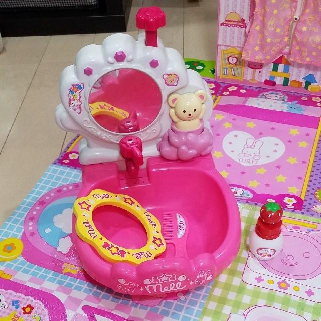 PILOT(パイロット)のメルちゃん 美容室、おうち、おふろセット キッズ/ベビー/マタニティのおもちゃ(知育玩具)の商品写真