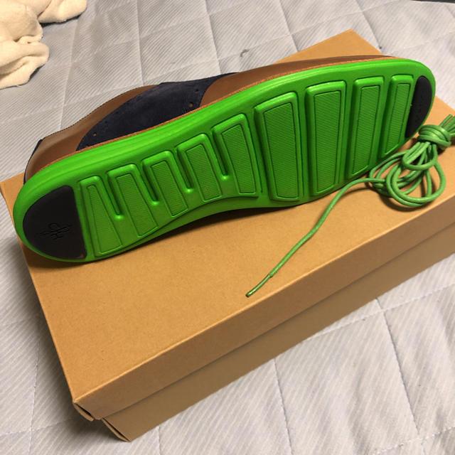 Cole Haan(コールハーン)のCOLE HAAN LUNAGRAND SADDLE 茶×緑 US9 メンズの靴/シューズ(ドレス/ビジネス)の商品写真