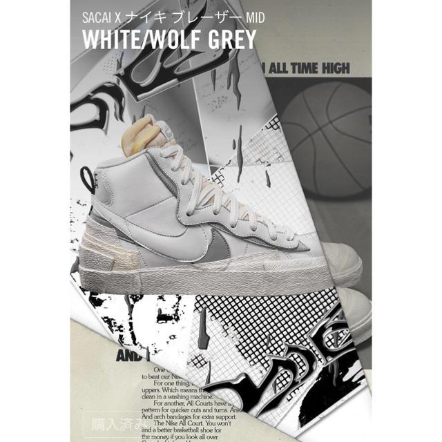 NIKE(ナイキ)のsacai × NIKE BLAZER MID 26cm メンズの靴/シューズ(スニーカー)の商品写真