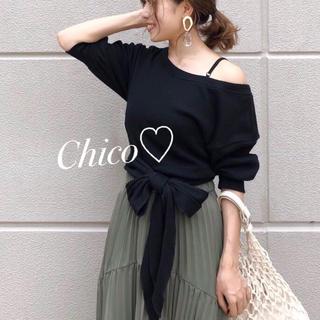 who's who Chico - 特価♡ back裾リボン5分袖プルオーバー ヘザー ナイスクラップ スナイデル