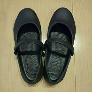 crocs - クロックス アリスフラット 黒 J2