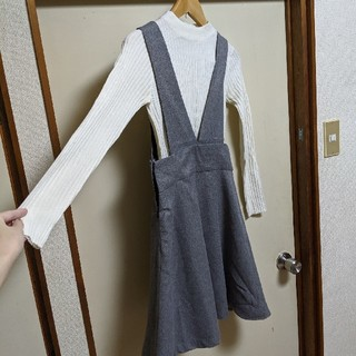 GU - GU Mサイズ ワンピース ジャンパースカート