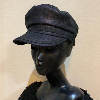 スライ(SLY)の【美品】SLY スライ レディース ラメ キャスケット 帽子 ハット 黒(キャスケット)